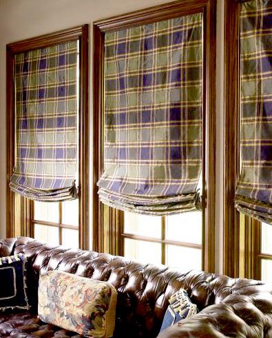 пошив римской шторы, выкройка, фото.
